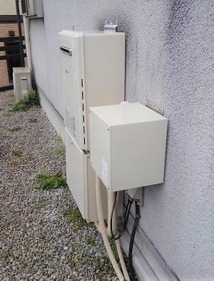 神奈川県横浜市T様の交換工事後、ノーリツのGT-2460SAWX BLとスカイブレンダーのSKB-300